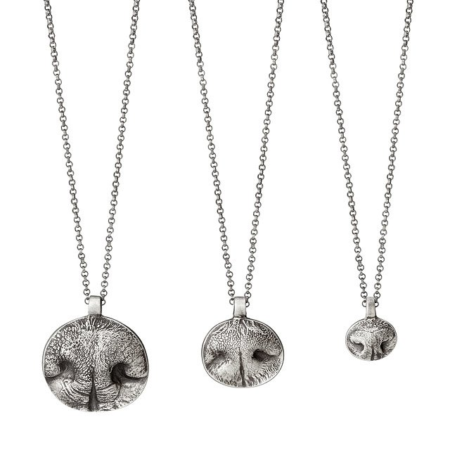 Custom Pet Nose Print Necklaces