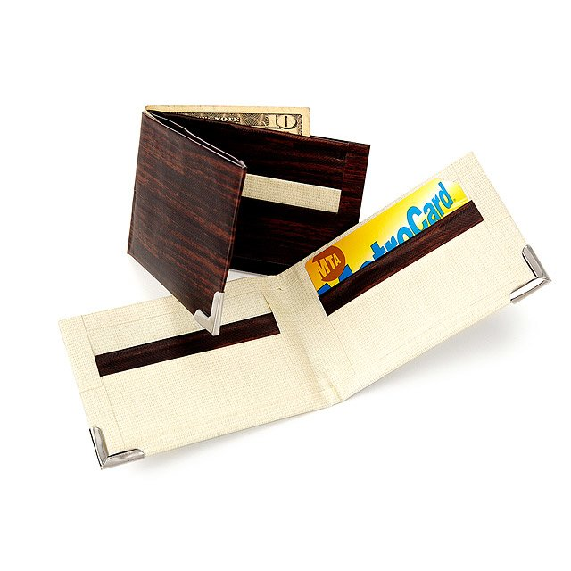 Make Your Own Duct Tape Wallet - Wood 2