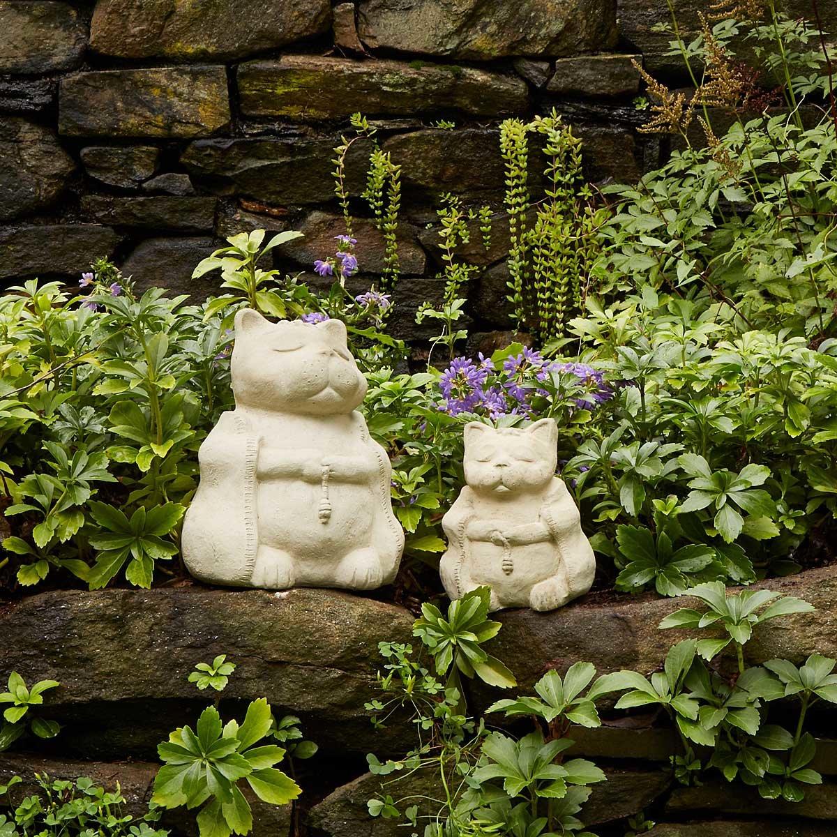 Zen Cat Garden Sculpture 1 Thumbnail