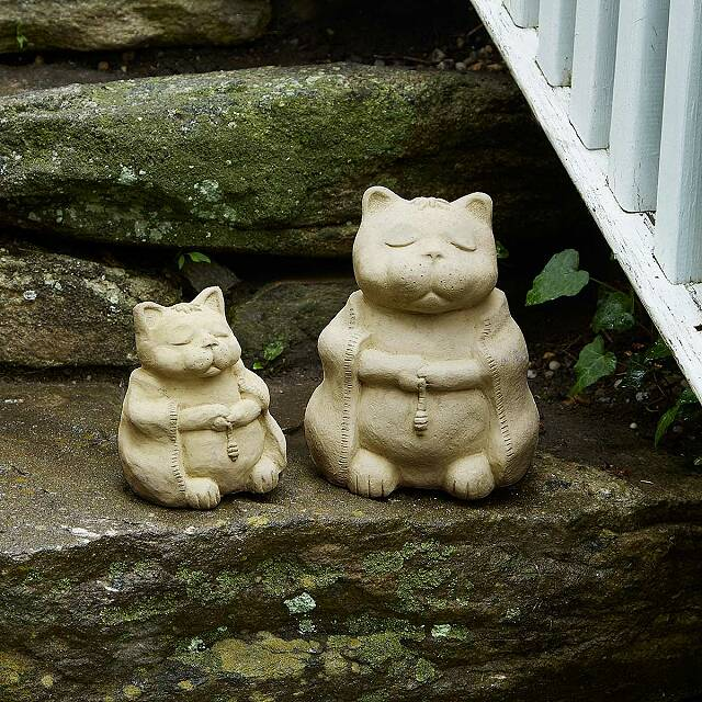 Zen Cat Garden Sculpture 2