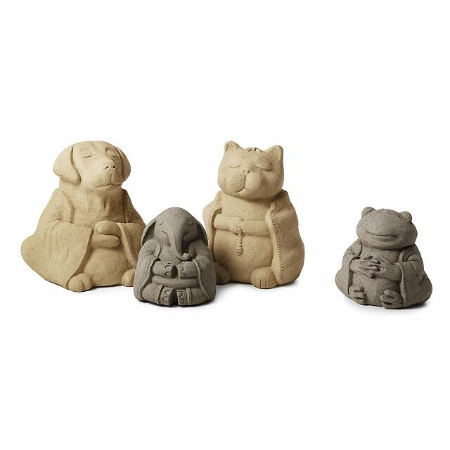 Zen Cat Garden Sculpture 3