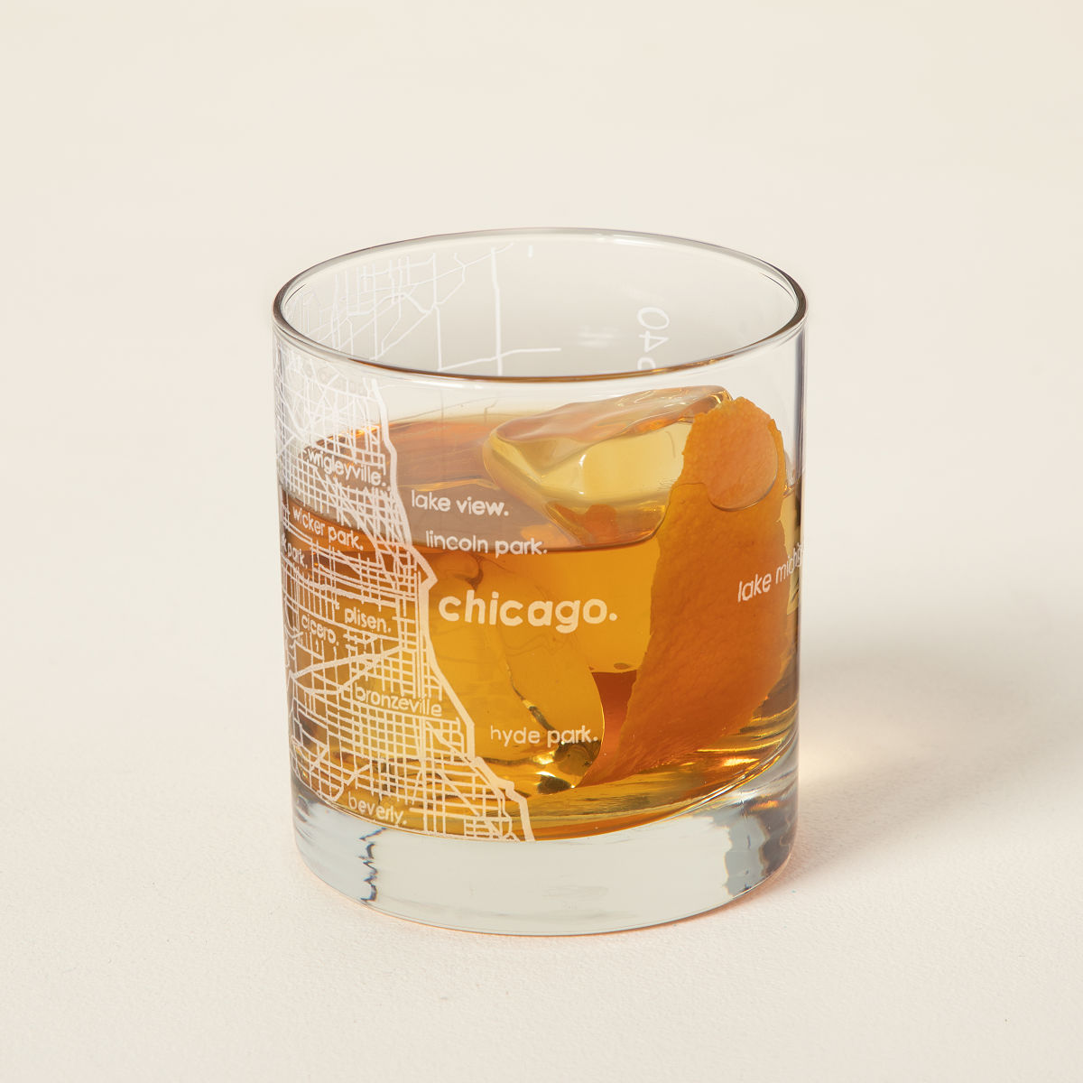 City Map Glass City Glass New York Chicago San Francisco - Chicago map for new yorkers