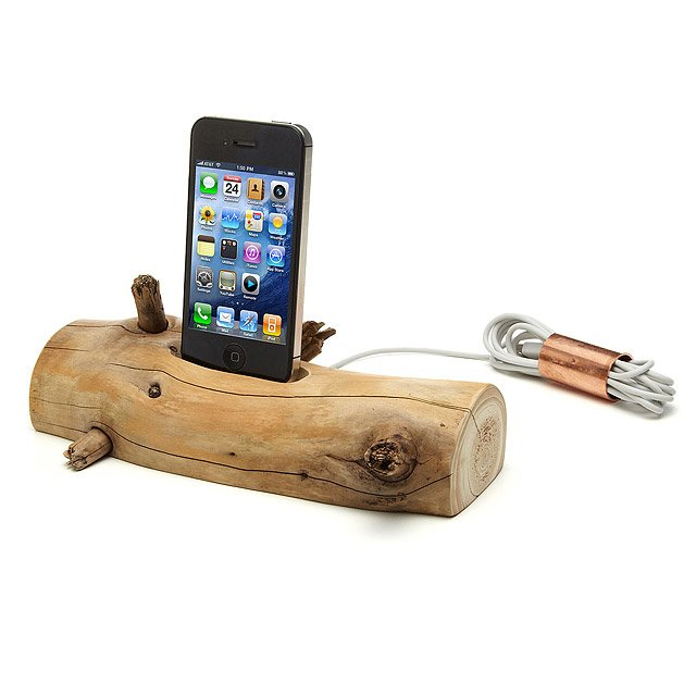 Driftwood iPhone Charging Dock 2