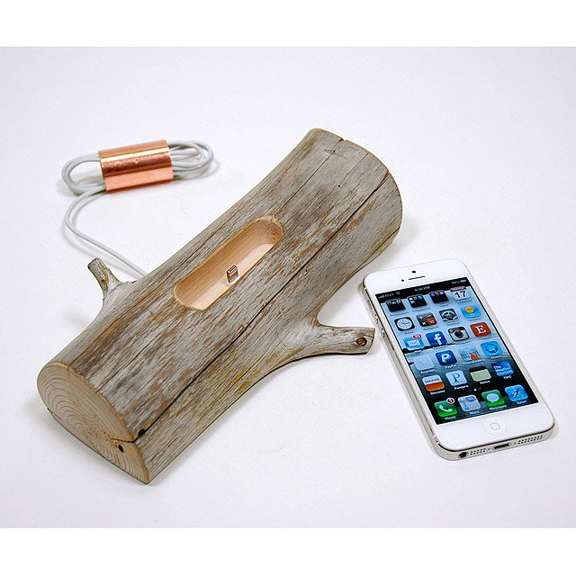 Driftwood iPhone Charging Dock 3