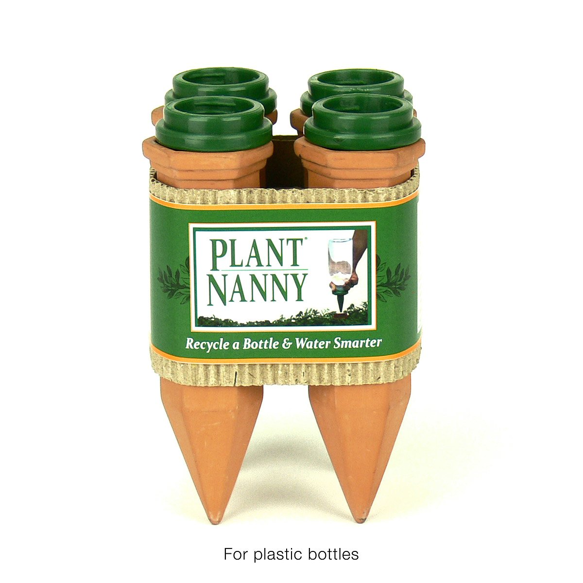 recycle a bottle plant nanny stake set of 4 self watering
