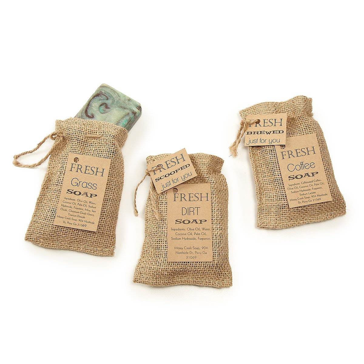 Scents of the Earth 3 Soap Set | coffee soap, grass, dirt
