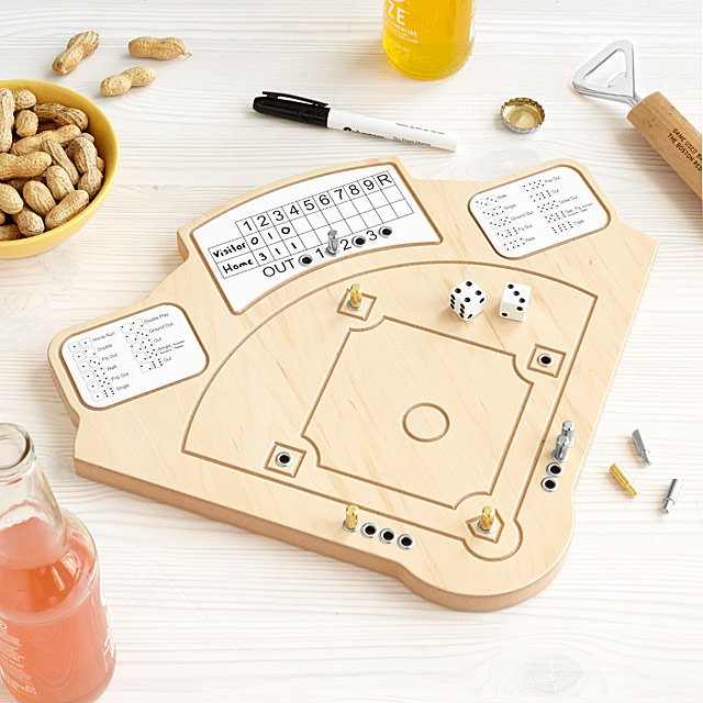 Baseball Game Wooden Baseball Board Game UncommonGoods Gorgeous Wooden Baseball Game Toy