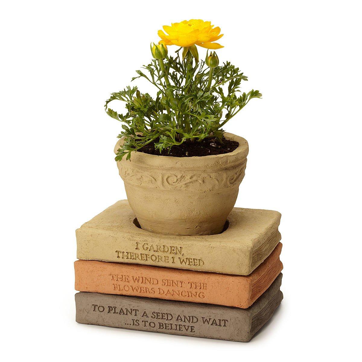 Flower Pot Book Saucer Stack Decorative Outdoor Flower Pots
