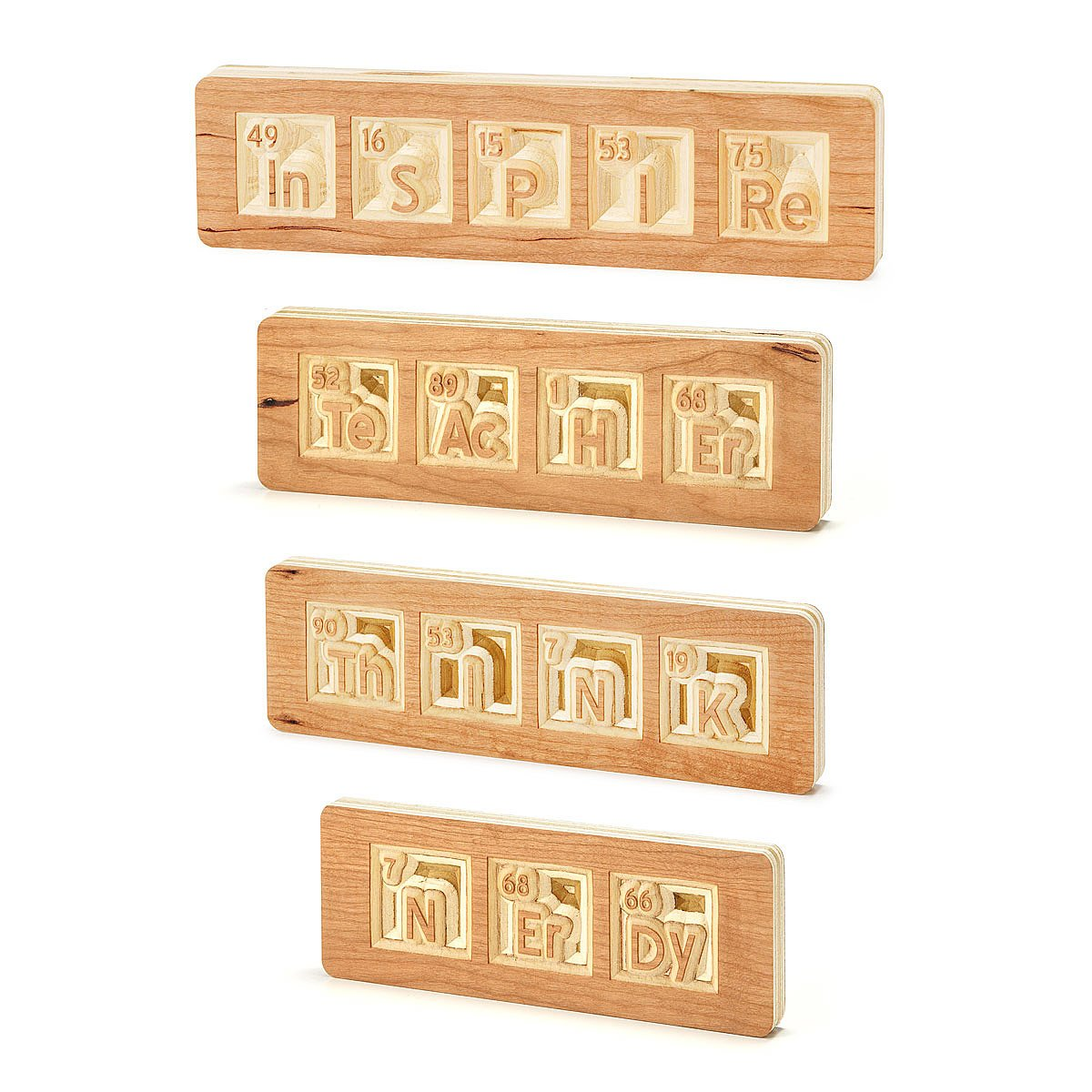 Reclaimed wood periodic words science chemistry element reclaimed wood periodic words 2 thumbnail gamestrikefo Gallery