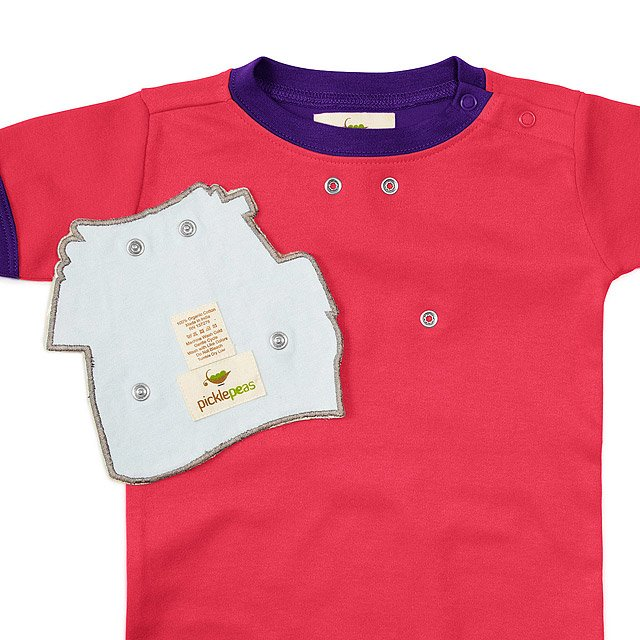 Drool-proof Bibs and Babysuit 3 Pc Set - Pink 2