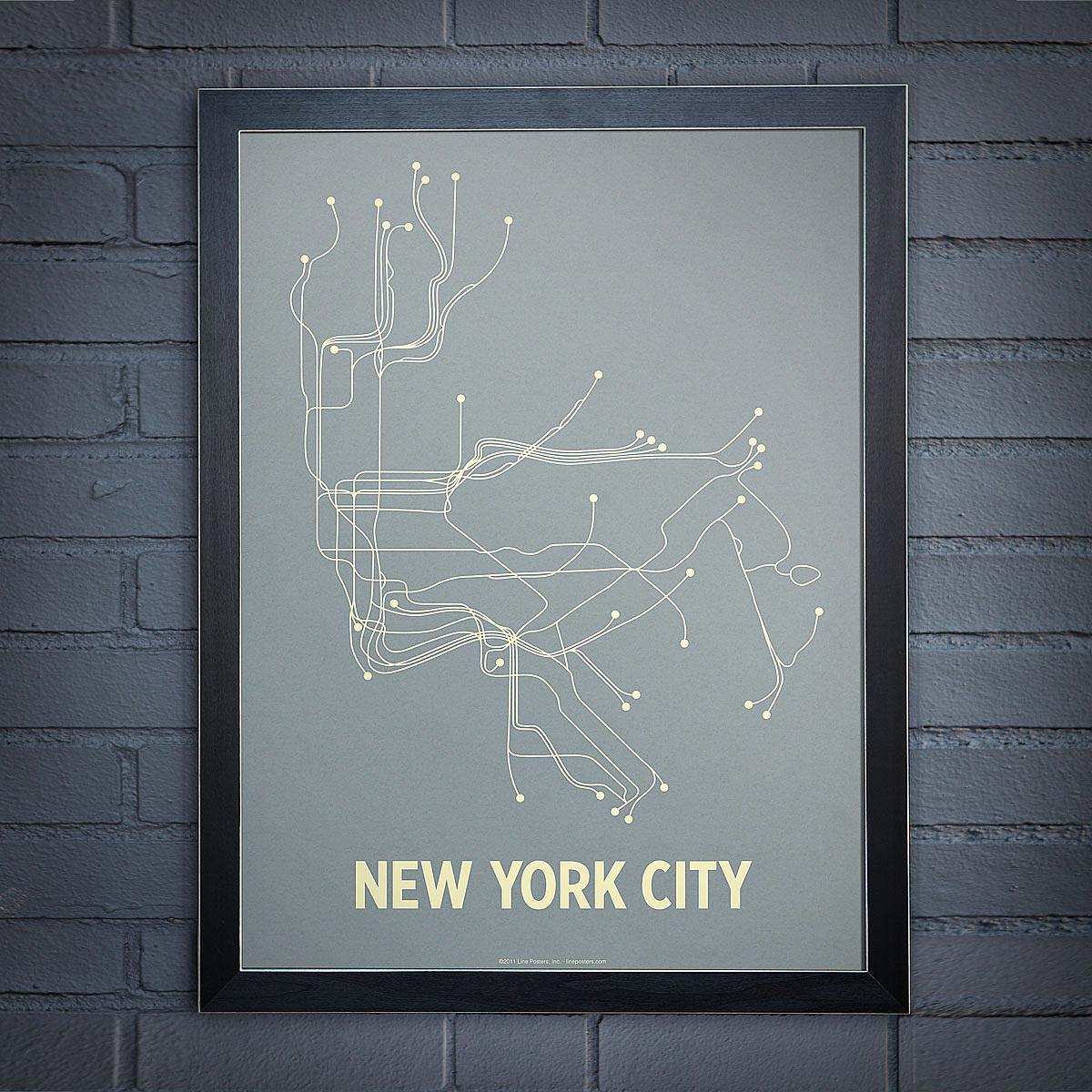 Line Posters | New York Subway Art, Paris Metro | UncommonGoods