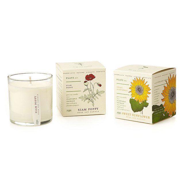 Plant the Packaging Floral Candles