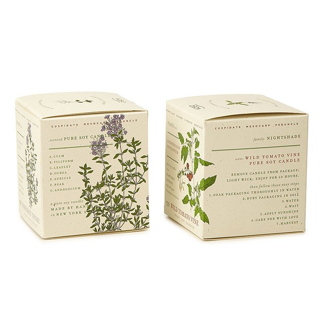 Plant the Packaging Herb and Veggie Candles 2