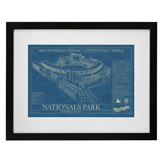 Large Baseball Stadium Blueprints