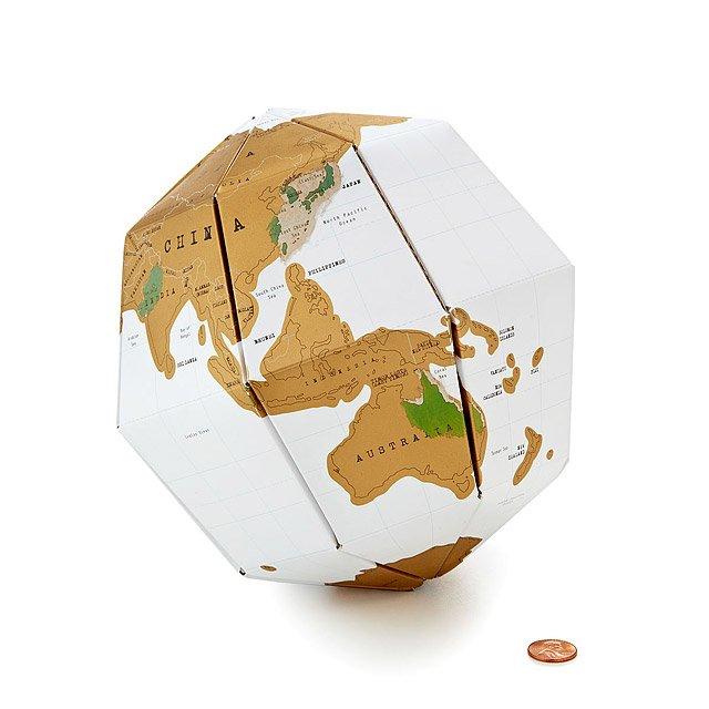 Scratch map globe scratch off papercraft travel map uncommongoods scratch map globe publicscrutiny Images