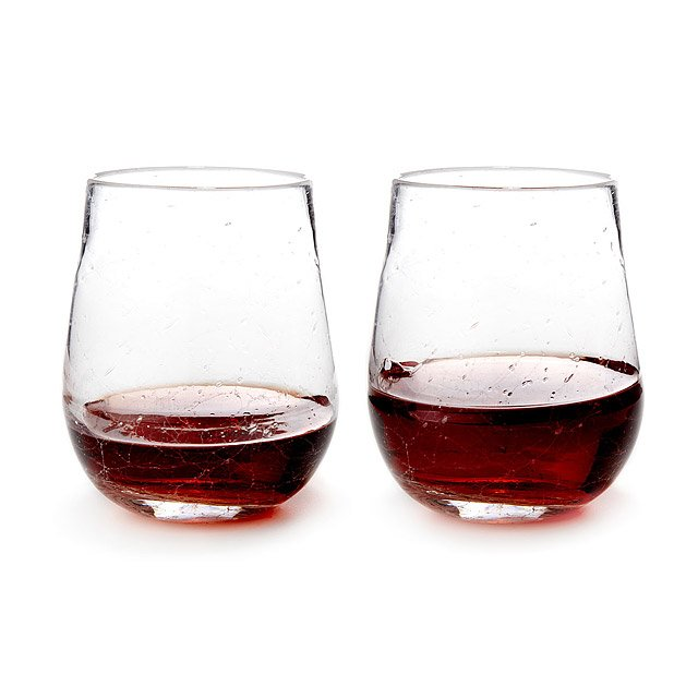 Crackle Wine Glasses - Set of 2