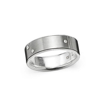 Rivets Wedding Band - Narrow