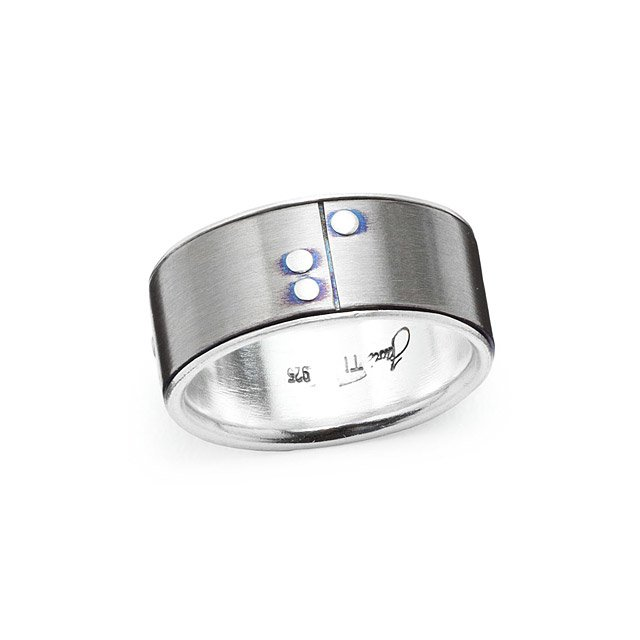 Rivets Wedding Band - Wide