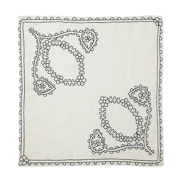 Hand Embroidered Napkins - Set of 4 2