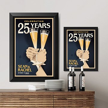 Customizable Toast Anniversary Art