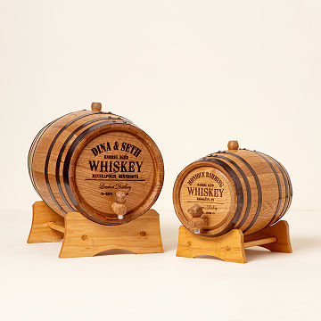 customizable personalized whiskey barrel