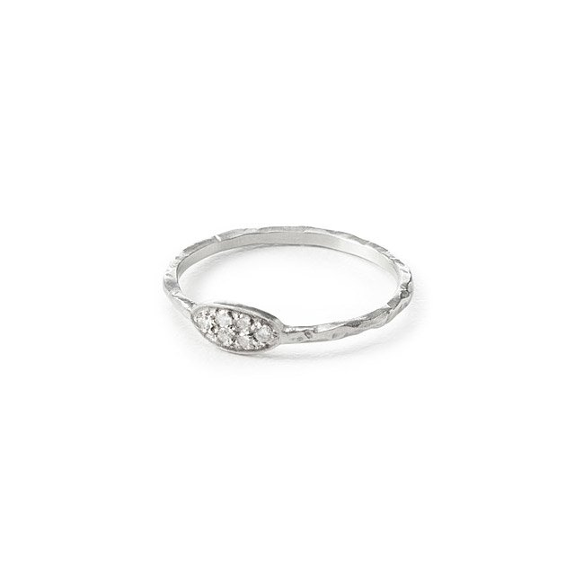 Diamond Pave Oval Ring