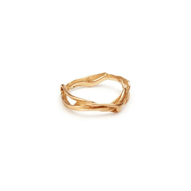 Rose Stalk Wedding Band