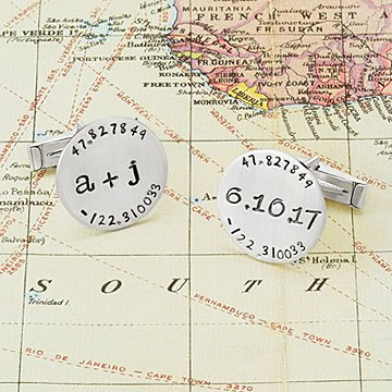 Latitude Longitude Cufflinks