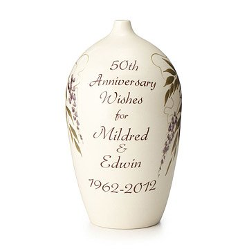 Personalized Anniversary Wish Vase
