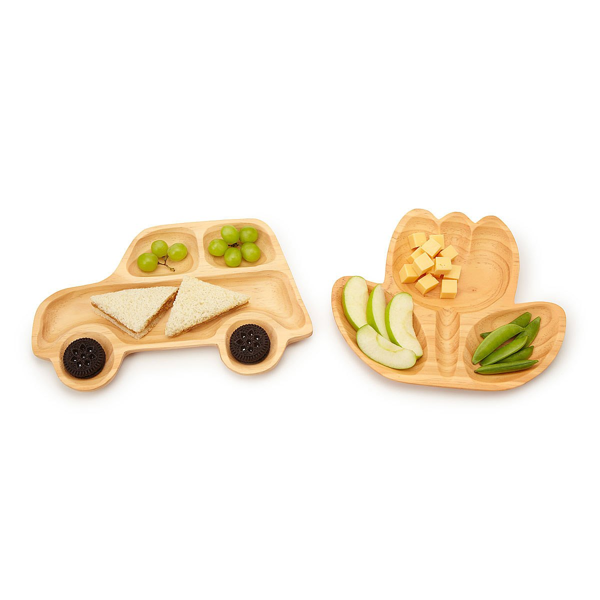 Wooden Plates - Car or Flower 1 thumbnail  sc 1 st  UncommonGoods & Wooden Plates - Car or Flower | Kids Dinnerware Baby Dishes ...