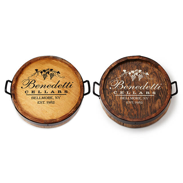 Personalized Lazy Susan Lazy Susan Wine Barrel Personalized