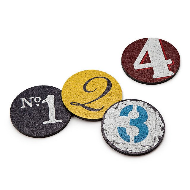 Recycled Tire Coasters - Numbers