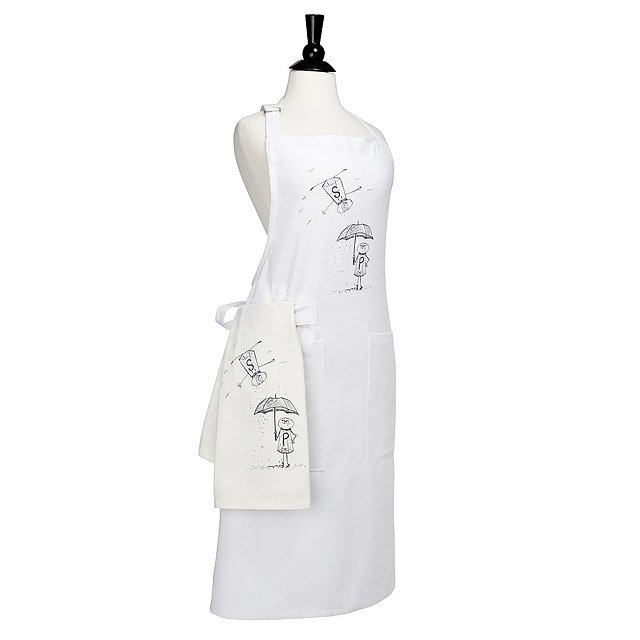 Salt and Pepper Apron and Towel Set