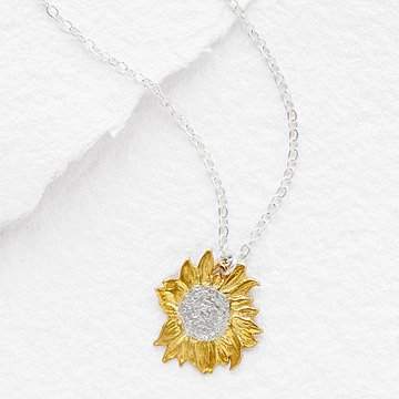 Golden Sunflower Necklaces