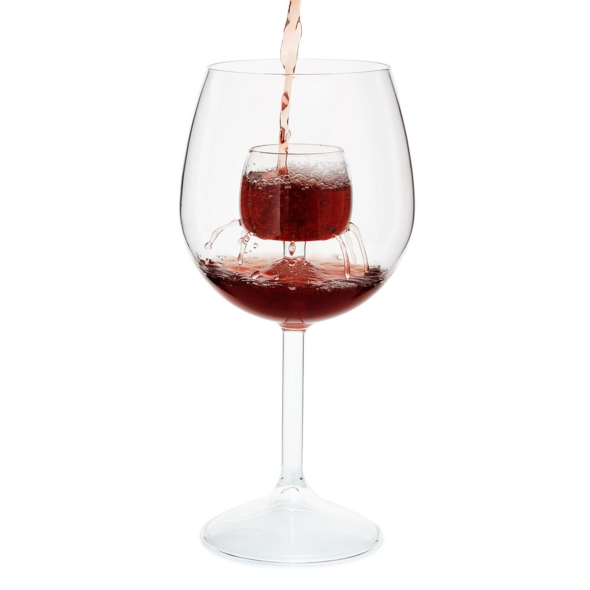 Wine Glass With Wine Part - 17: Fountain Aerating Wine Glasses - Set Of 2