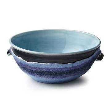 Classic Blue Serving Bowl with Felt