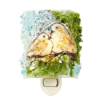Recycled Glass Doves Nightlight