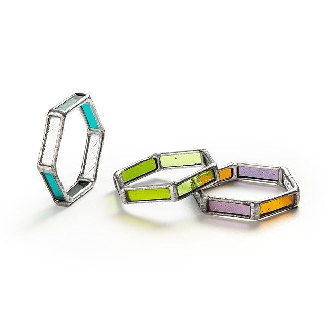 Hexagon Stained Glass Bracelets 2