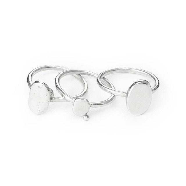 Pebble Stacking Rings - Set of 3