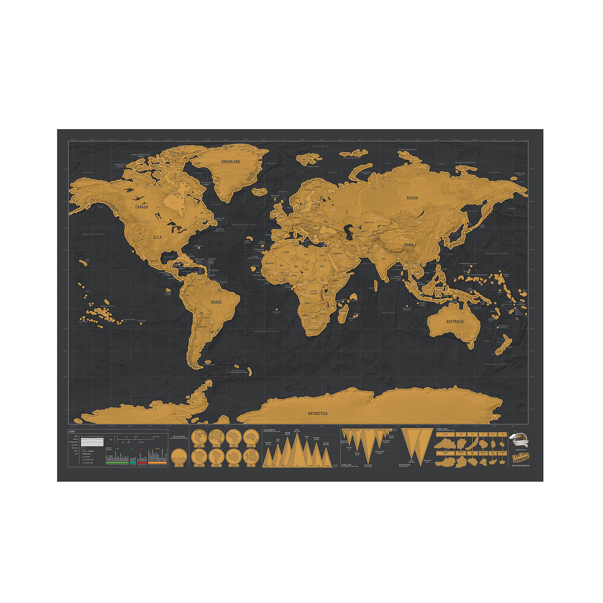 Scratch map deluxe scratch off wall maps uncommongoods scratch map deluxe 2 thumbnail gumiabroncs Images