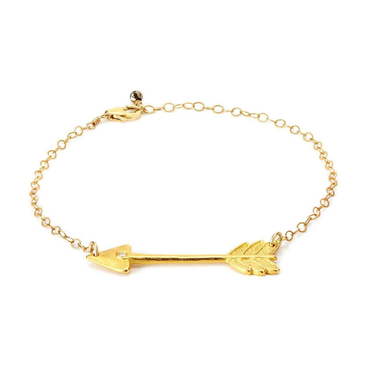 Diamond Arrow Bracelet Handmade Gold Jewelry Uncommongoods
