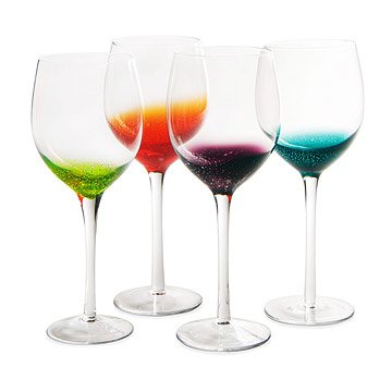 Fizzy Wine Glasses - Set of 4