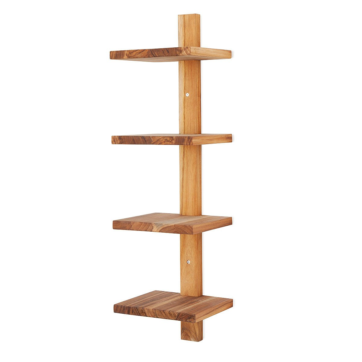 Wall Shelf minimalist teak wall shelf | vertical shelves, stacked shelves