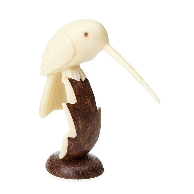 Tagua Hummingbird Sculpture