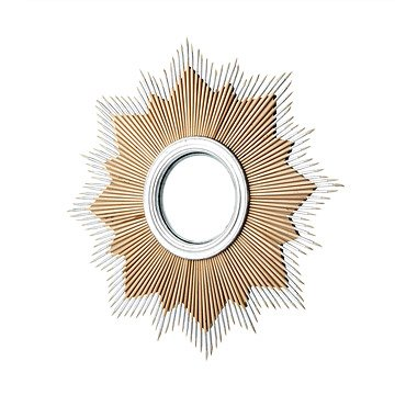 Convex Starburst Paintbrush Mirror