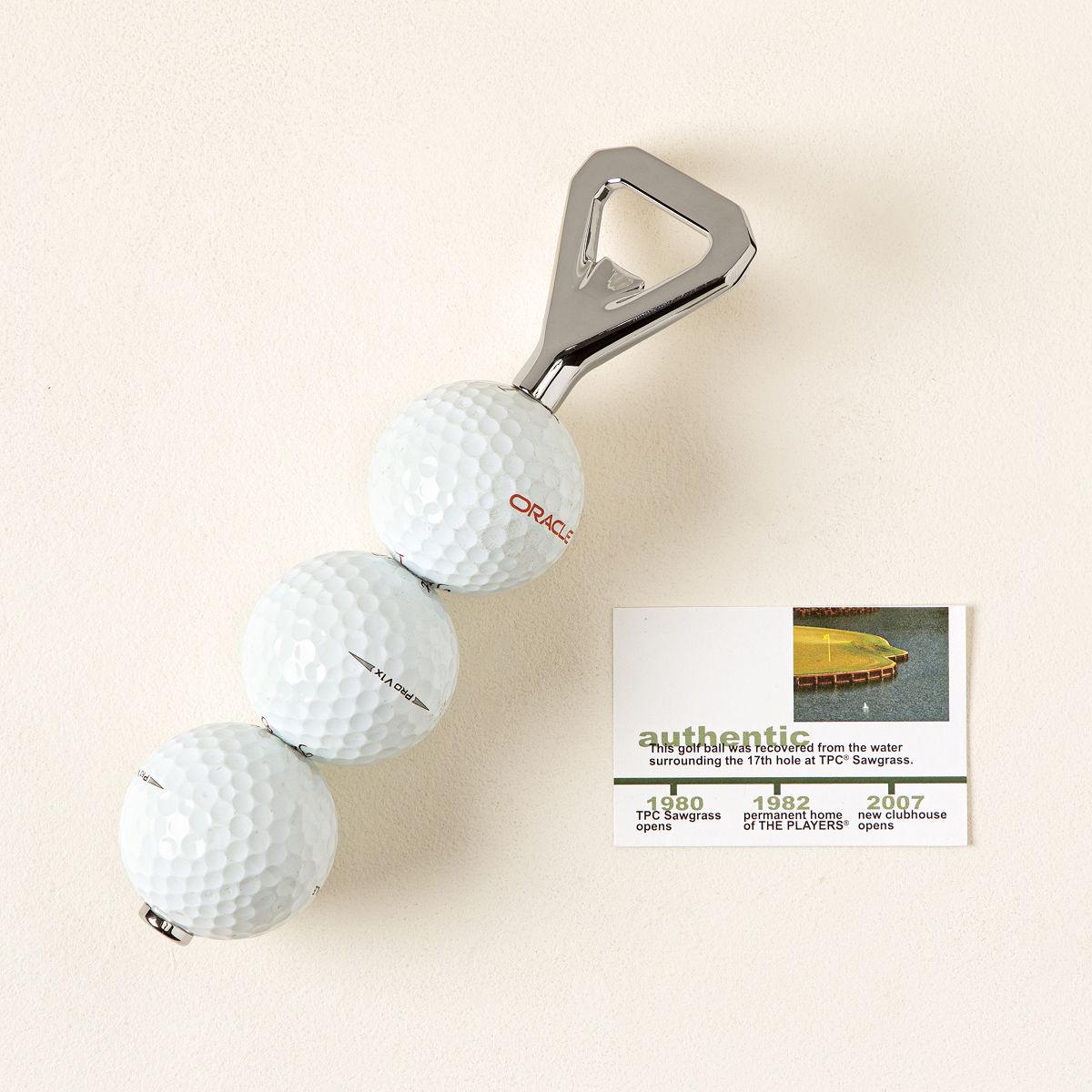 tpc sawgrass golf ball bottle opener pga tour golfer beer
