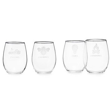 'Under the Influence' Stemless Wine Glass Set