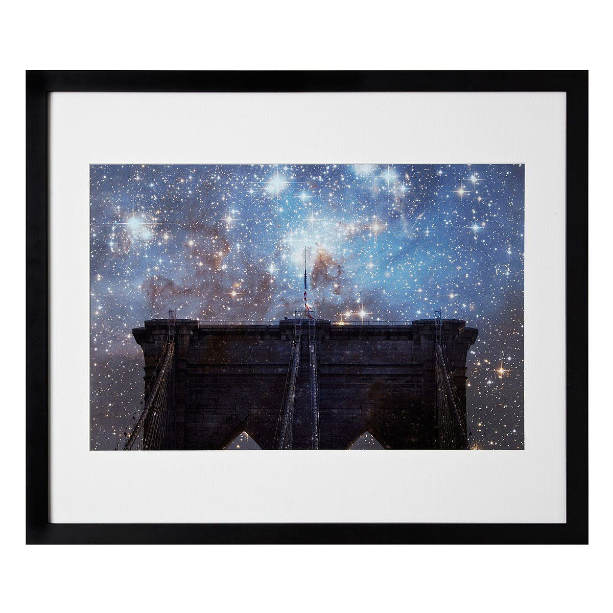 starry night brooklyn bridge this vintage inspired photographic