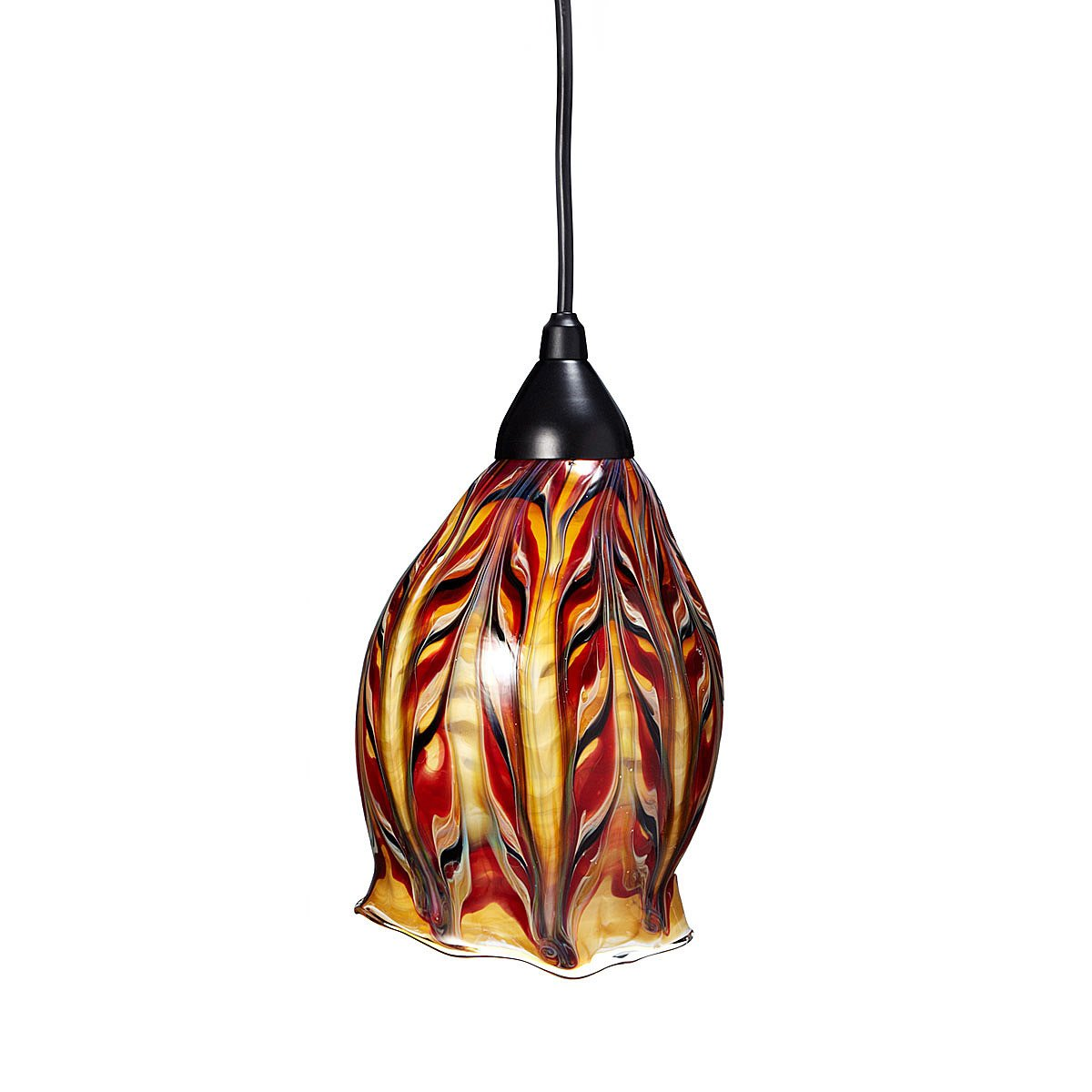 glass feather pendant light hand blown glass ceiling lamp jim
