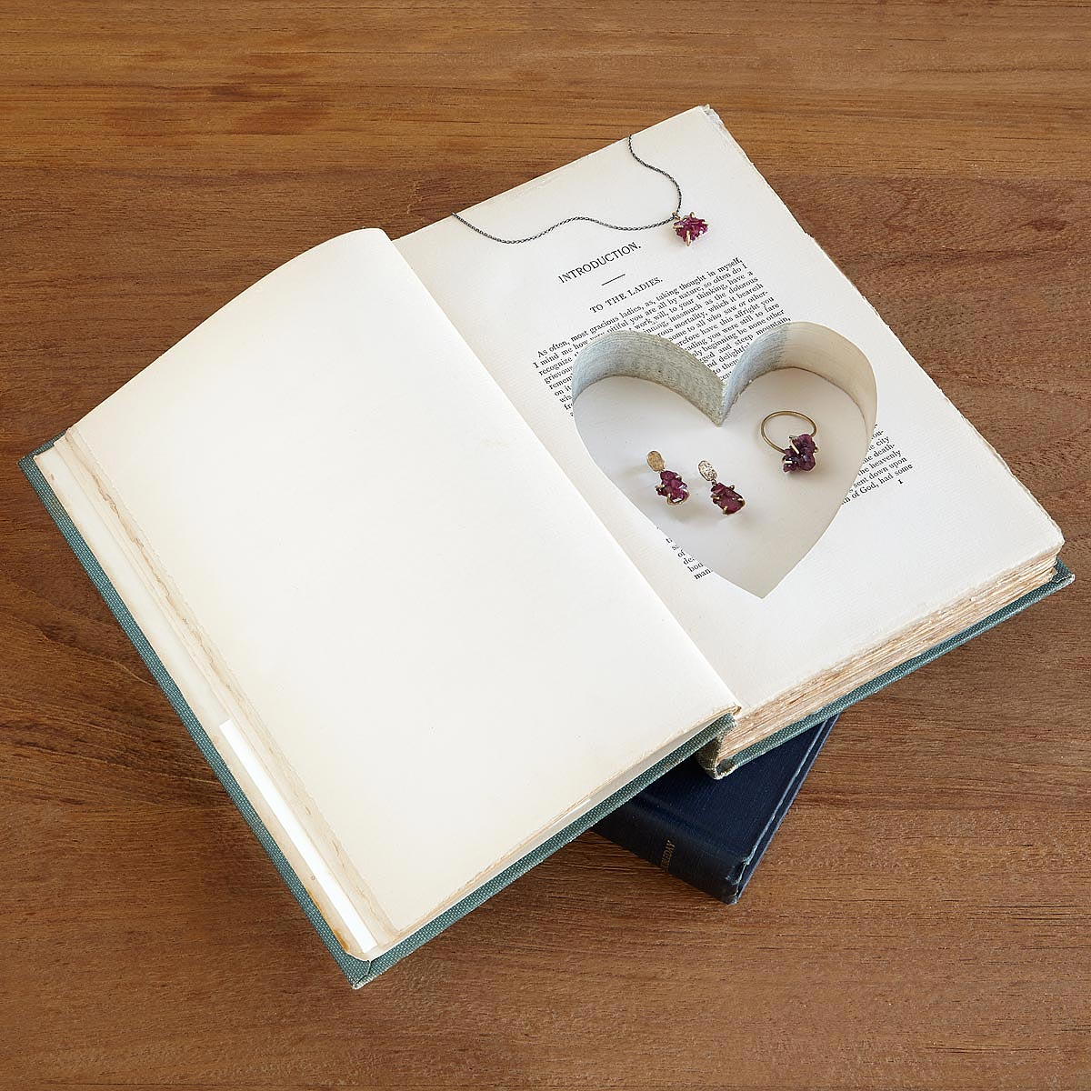 Heart Book Box | recycled books, couples, secret box | UncommonGoods
